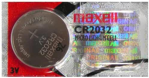 One Maxell CR2032 Micro Lithium Cell