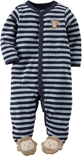 Carters Baby Striped Terry Footie