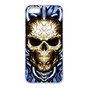 Blue water pipe skull Phone Case for iPhone 5S(TPU)