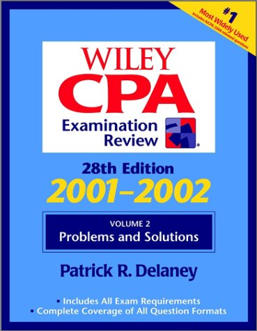 Wiley CPA Examination Review, Volume 2, Problems and Solutions, 28th Edition