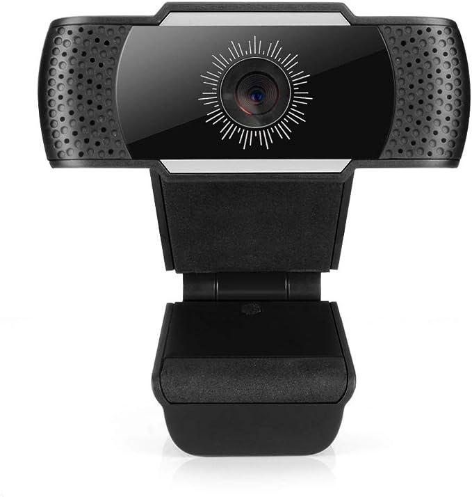 HANBO ウェブカメラ 1080P HD高画質 pcカメラ マイク内蔵 ノイズリダクション 高音質通話 テレワーク・在宅勤務・ビデオ会議・ウェブ会議・動画配信・ゲーム実況など ブラック CA800