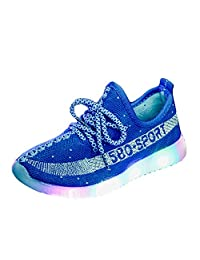 A2kmsmss5a Child LED Shoes Light Up Flashing Fashion Sneaker Slip-on Sport Shoes for Kids