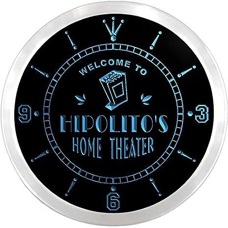 ncph0979-b hipolito es de película de cine en casa de cerveza llevó reloj de pared de neón: Amazon.es: Hogar