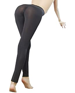 1b7eb0f9251 Lazutom Sexy Women Lady See-Through Nylon Open Zip Crotch Leggings Pants