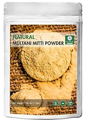 100% Pure & Natural Multani Mitti Powder (The Indian Bentonite Clay) (1lb) by Naturevibe Botanicals, For Skin Care (16 ounces) from Naturevibe Botanicals