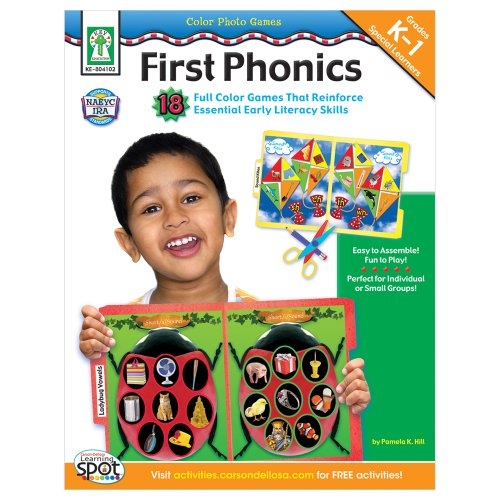 Color Photo Games: First Phonics, Grades K - 1: 18 Full Color Games That Reinforce Essential Early Literacy Skills (First Color Photo)