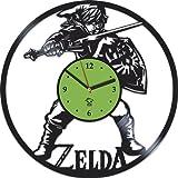 The Legend of Zelda Breath of the Wild Online Game Vinyl Record Best Gift For Gamer Kovides Vinyl Wall Clock Home Decoration Room Inspirational, Vinyl Wall Clock Silent, Wall Sticker, Modern Art