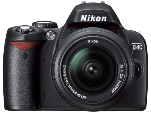 Nikon D40 6.1MP Digital SLR Camera Kit with 18-135mm f/3.5-5.6G ED-IF AF-S DX Zoom-Nikkor Lens