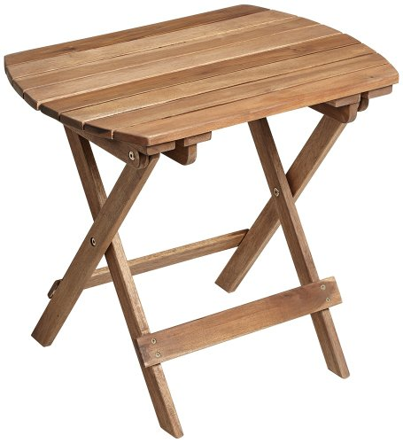 Cheap Monterey Natural Wood Outdoor Side Table