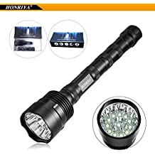 Super Bright Tactical Flashlights,HONRIYA Excellent Beam 1500~12000 High Lumens 12 Cree XML-T6 LED Flashlight,IP65 Waterproof Handheld Torch Lights for Home and Outdoor