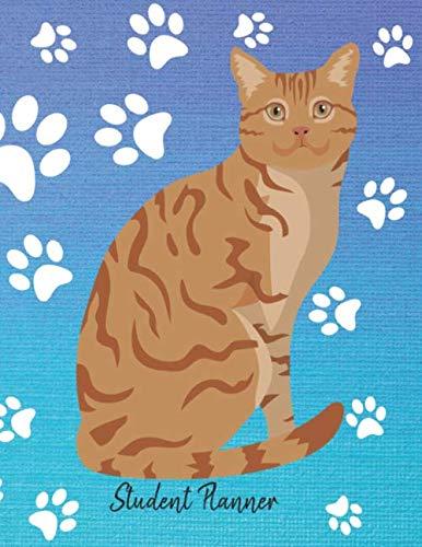 (Student Planner: School Planner 2019-2020 Orange Tabby Cat)