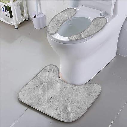 Cool Amazon Com Uhoo2018 Toilet Seat Cushion Grey Marble Texture Creativecarmelina Interior Chair Design Creativecarmelinacom