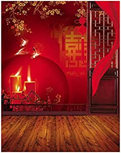 Amazon.com : TOOGOO(R) 3x5ft Vinyl Red Chinese Lunar New ...