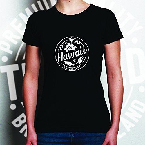 Tim and Ted Made in Hawaii Tropical Beach Honolulu Waikiki Distressed T-Shirt Da Donna