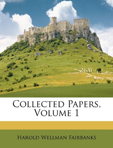 Download Collected Papers, Volume 1 pdf