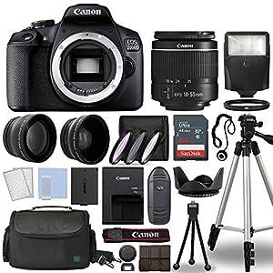 Best Epic Trends 51VDQ4NKK6L._SS300_ Canon EOS 2000D / Rebel T7 Digital SLR Camera Body w/Canon EF-S 18-55mm f/3.5-5.6 Lens 3 Lens DSLR Kit Bundled with…