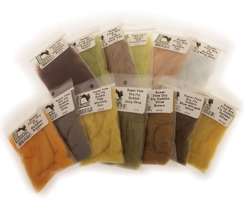 Hareline Super Fine Dry Fly Dub Amber - Fly Tying -