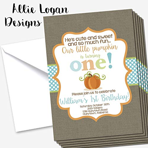Little Pumpkin First Birthday Custom Invitation -