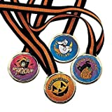 Fun Express Spooktacular! Halloween Award Medals - 12 pcs