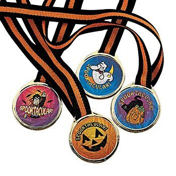 Fun Express Spooktacular! Halloween Award Medals - 12 -