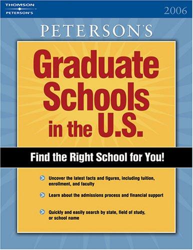 DecisionGuides Grad Sch in US 2006 (PETERSON'S GRADUATE SCHOOLS IN THE US)