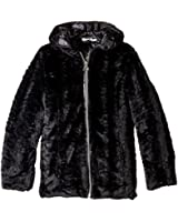 Amy Byer Outerwear Big Girls' Faux Fur Swing Coat
