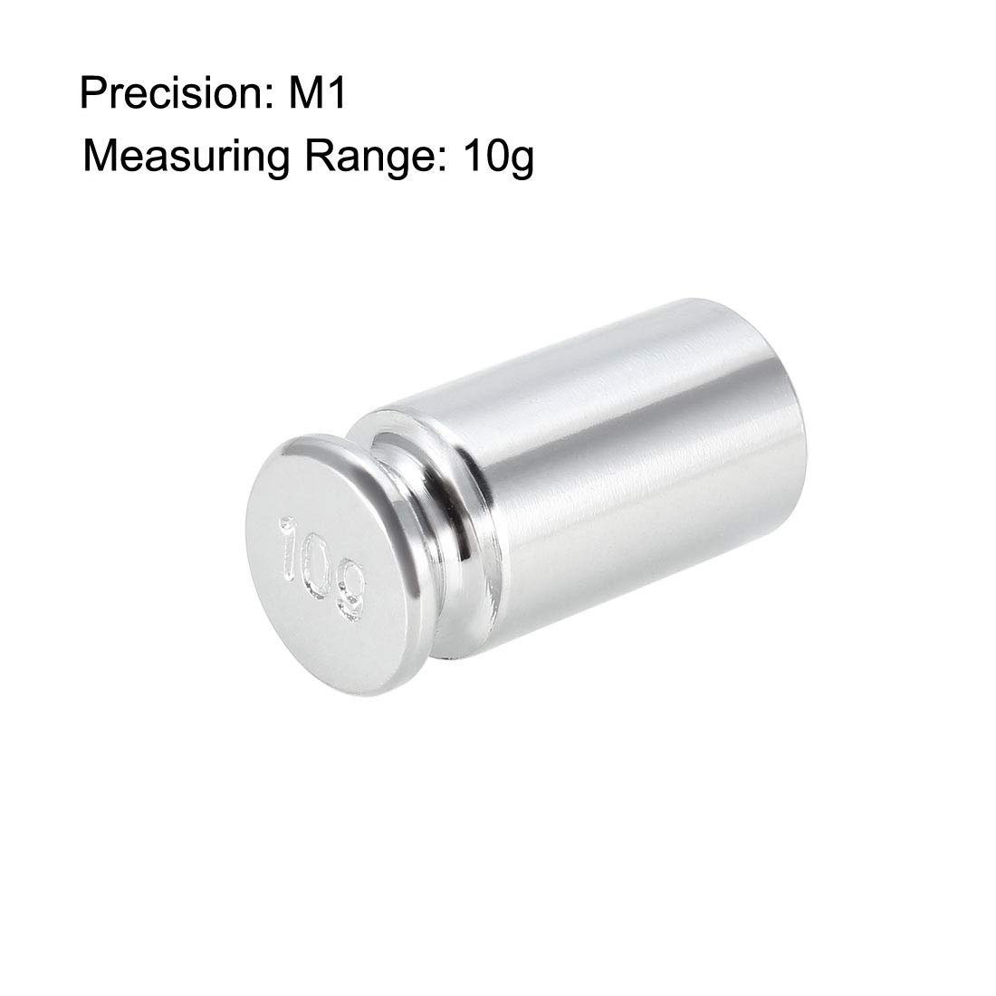 sourcing map Calibration Weight 10g M1 Precision Chrome Plated Steel for Digital Balance Scales