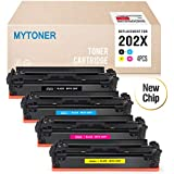 Mytoner Compatible Toner Cartridge Replacement for HP 202X 202A for HP Color Laserjet Pro M281fdw M254dw M281dw M281cdw M280nw M281 M254 Printer (CF500X CF501X CF502X CF503X)