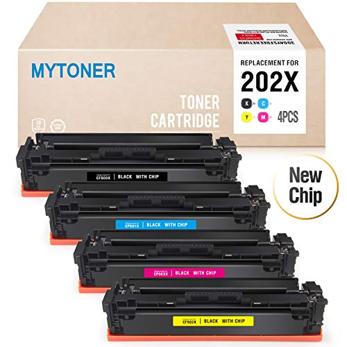 - Mytoner Compatible Toner Cartridge Replacement for HP 202X 202A for HP Color Laserjet Pro M281fdw M254dw M281dw M281cdw M280nw M281 M254 Printer (CF500X CF501X CF502X CF503X)