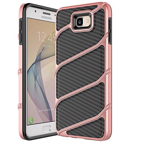 Shockproof Hybrid Case for Samsung Galaxy J5 (Black/Rose Gold) - 6