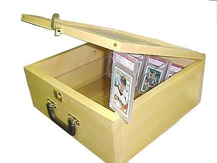 Pennzoni Display Baseball Card Storage Case For Baseball Cardsgolden Oak P315g