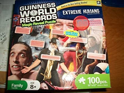 Guinness World Records 100 Piece Magic Reveal Jigsaw Puzzle Extreme Sports by Karmin: Amazon.es: Juguetes y juegos