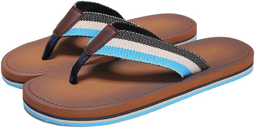 Flip Flops HUYP Fashion Wear Soft Bottom Pin Non-Slip Beach Shoes Sandals and Slippers Mens Size : 11 US