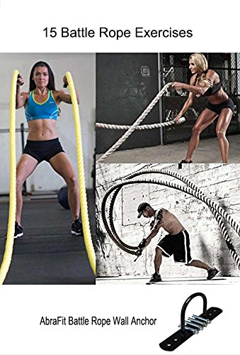 AbraFit Wall/ Ceiling Mount for Suspension Straps Crossfit Olympic Rings, Body Weight Strength Training Systems, Yoga Swings Hammocks, Boxing Equipment, Battle Ropes