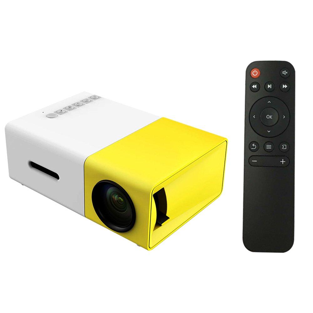 docooler FW1S yg300 LED Proiettore 1080P Macchina di Proiettore con USB AV Mini Tasche Telecomando per Smartphone PC Portatile EU Plug