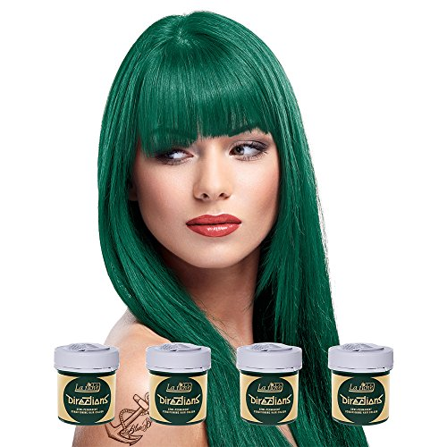 Perm Green - 4 x La Riche Directions Semi-Perm Hair Colour Alpine Green (ALL COLOURS Avail) 4x 88ml by La Riche