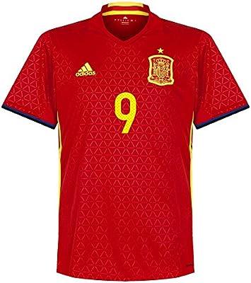 España Casa Aduriz nº 9 camiseta 2016 2017, hombre, rojo: Amazon ...