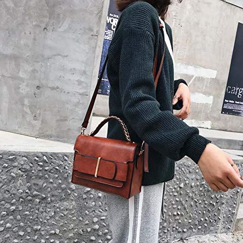 tracolla colore borse C della a La donne C delle crossbody sacchetto delle decorazione elaborazione di donne borsa europea 2018 retro nuova dell'unità wHq1XH0