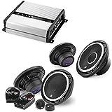 JL Audio JX400/4D 4-channel car amplifier 70 watts RMS x 4 + C2-650 450W 6.5 2-Way Evolution C2 Series Component Car Speakers System +C2-650x 450W 6.5 2-Way Evolution C2 Series Coaxial Car Speakers