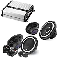 JL Audio JX400/4D 4-channel car amplifier 70 watts RMS x 4 + C2-650 450W 6.5 2-Way Evolution C2 Series Component Car Speakers System +C2-650x 450W 6.5 2-Way Evolution C2 Series Coaxial Car Speakers