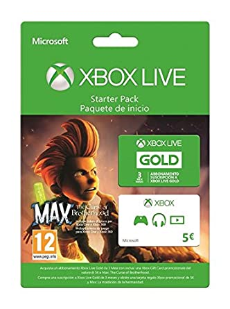 Xbox Live Starter Pack - 3 Mesi + Gift Card 5 Euro + Max ...
