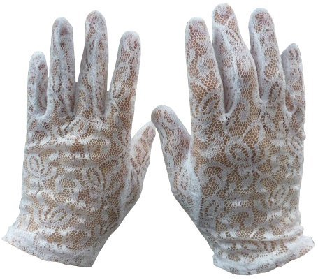 N'ice Caps Girls Special Occasion Lace Gloves (3-5yrs)