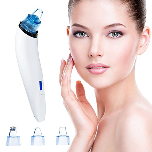 Zondr Blackhead Remover Vacuum - Electric USB Comedo Suction Pore Cleaner - With 4 Professional Microdermabrasion Extraction Tools To Remove Acne - For Men and Women - Exclusively By Spekless Beauty