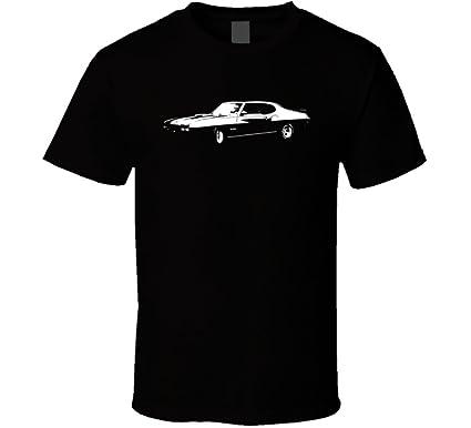 1970 GTO Side View Black T Shirt | Amazon.com