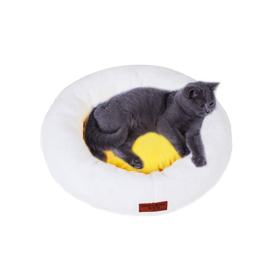 S XBCWW Cat Nest   Kennel, Washable Egg Yolk Cat Bed Pet Cat Mat, Cat Sleeping Bag Four Seasons Universal Kennel, Small Dog Mat Dog Bed (Size   S)