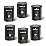 Lavazza Caffe Espresso Ground Coffee, 8-ounce Cans, 6 Pack