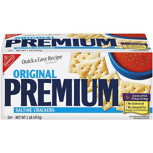 Nabisco Premium Saltine Crackers, Original, 16 oz (Pack 9)