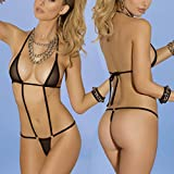 2018 Trim Micro Bikini Set Beach Wild Swimming Lingeries Costumes Sex Teeny Swimwear Female Extreme Women G-String Swimsuit Color 17130 Size One Size
