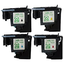 LiC-Store 4x (1 Black, 1 Cyan, 1 Magenta, 1 Yellow) Compatible Hp 11 Printhead Print Head C4810a C4811a C4812a C4813a for Hp 1200dtn, 1200dtwn, 2200se, 2200xi, 2230, 2250 Printer