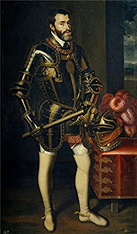 Perfect effect canvas ,the High Definition Art Decorative Prints on Canvas of oil painting 'Pantoja de la Cruz Juan El emperador Carlos V 1605 ', 10 x 17 inch / 25 x 43 cm is best for Basement decor and Home decoration and (Zune Home A V Pack)